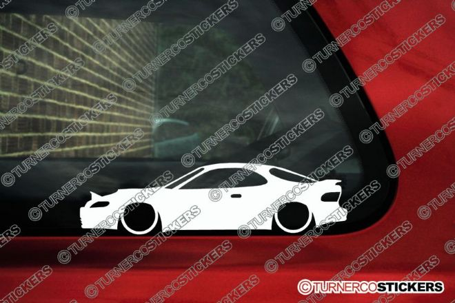 2x Low car outline stickers - Toyota celica (T180) ST 185 GT Four JDM